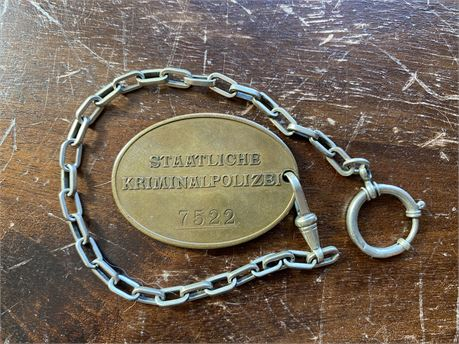 Kriminal Police Disk and Chain