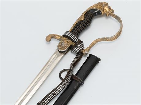 Army Officer's Saber, Lion Head