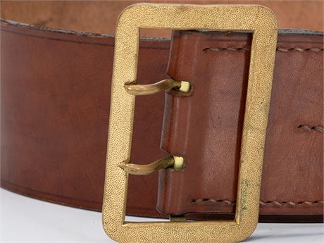 Political Leader's Leather Waist Belt and Buckle